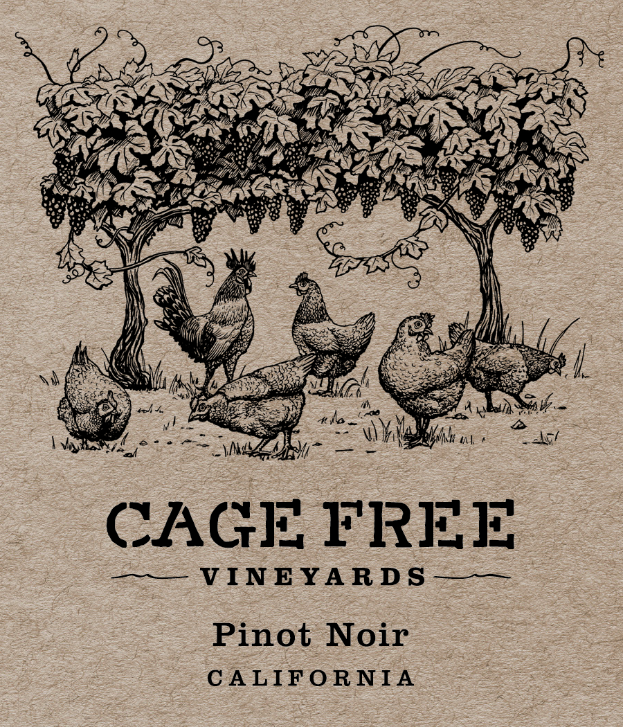 CAGE FREE NV CA PINOT NOIR FRONT